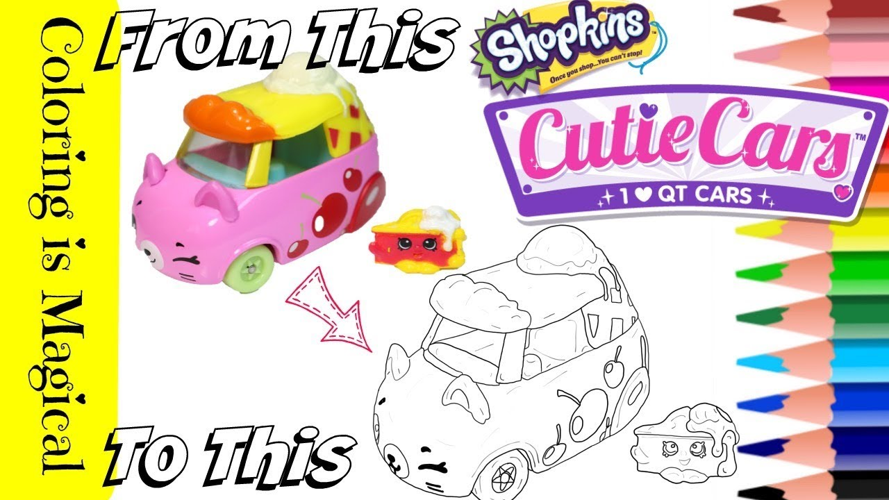 Color Shopkins Cutie Car Cherry Pie Chaser Coloring Page Unique