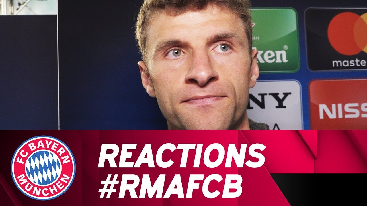 Alaba, Müller and more: Reactions after Real Madrid | #RMAFCB - YouTube