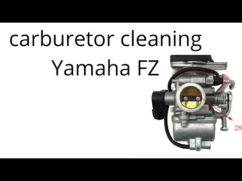 Carburetor cleaning Yamaha FZ