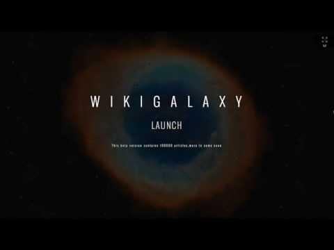 WikiGalaxy: a 3D visualization of Wikipedia