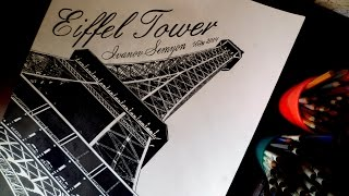 EIFFEL TOWER. PARIS, FRANCE DRAWING ISP 2014