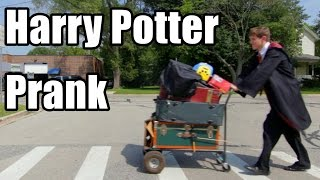 Harry Potter Platform 9 and Three Quarters Prank