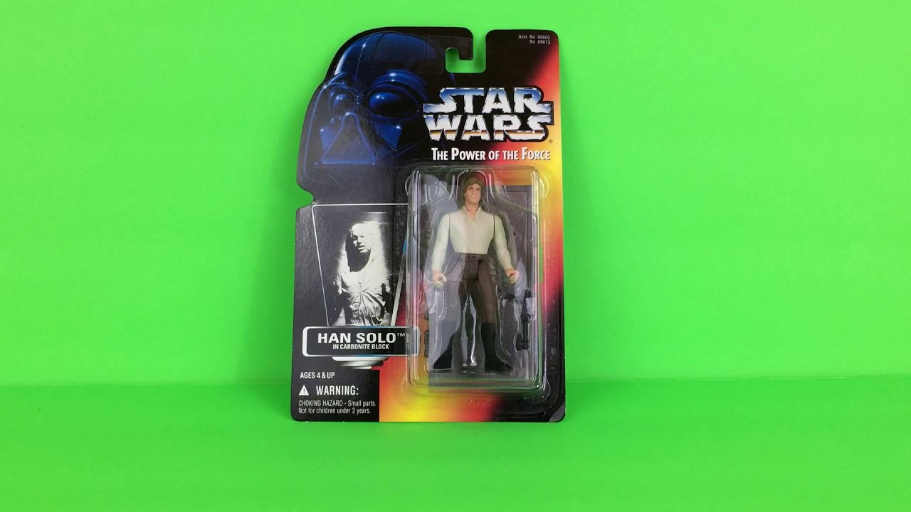 Star Wars The Power of The Force Han Solo Carbonite Block 1996 Toy