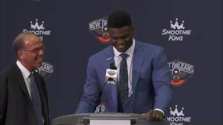New Orleans Pelicans Introduce #1 Overall Pick Zion Williamson