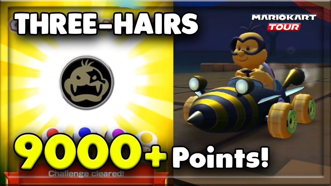 How To Get 9000 Pts With Three Hairs Driver Tour Challenges 2 Mario Kart Tour