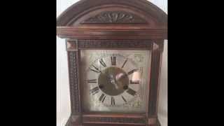 Antique Large H.a.c 14 Day Strike Mantel Clock With Pendulum