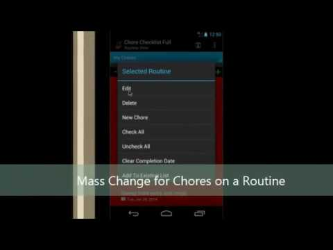 Chore Checklist Tutorial