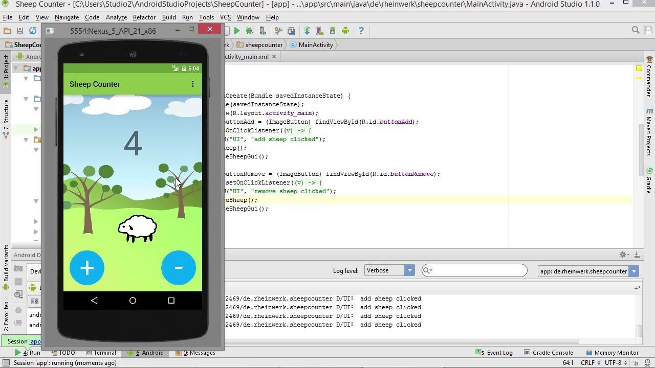 runde schaltfl chen erstellen apps entwickeln mit android studio youtube. Black Bedroom Furniture Sets. Home Design Ideas