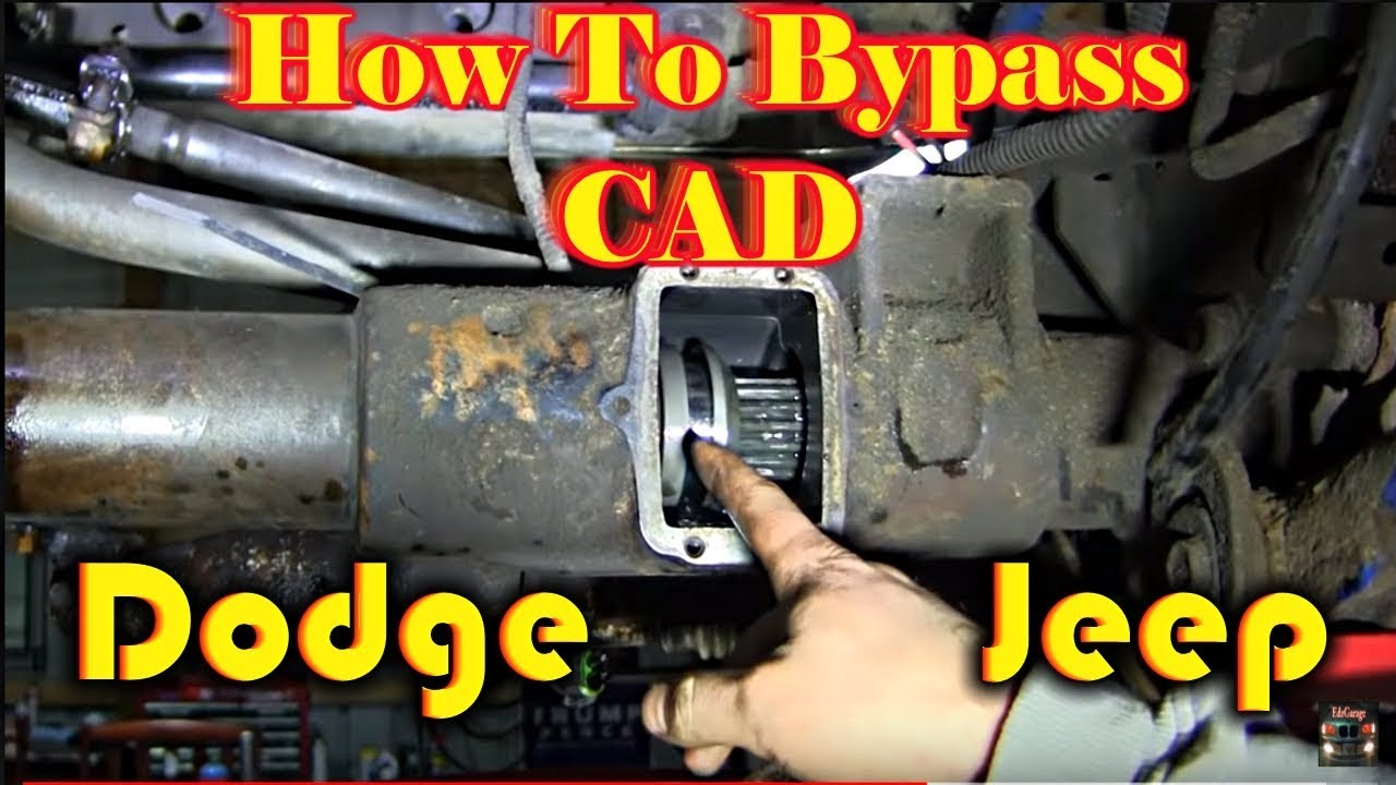 Dodge Jeep Center Axle Disconnect Bypass How To Youtube