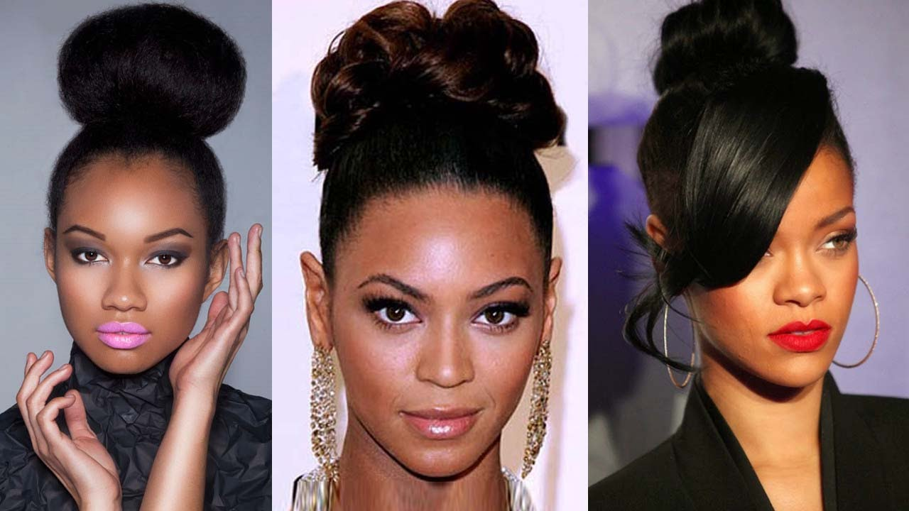 Updo Hairstyles For Black Women Being Elegant Like Beyonce Youtube