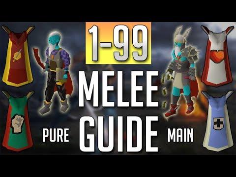 [OSRS] In-Depth 1-99 MELEE Guide (2018 Best Methods)