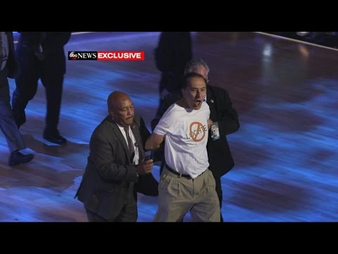 DWTS | Ryan Lochte Protestors Rush Stage [EXCLUSIVE FOOTAGE]