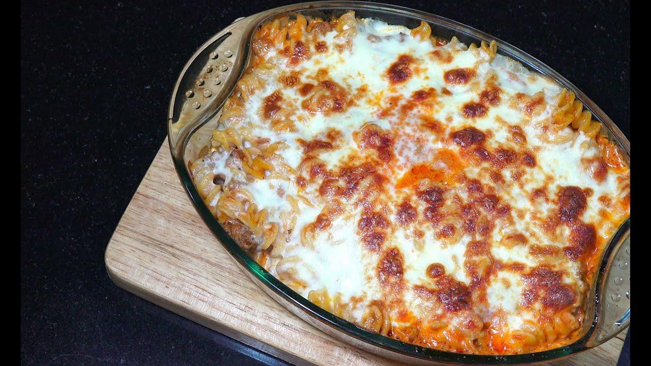 Baked Meat Sauce Pasta - Creamy Garlic Tomato Pasta Sauce - Baked Cheese Pasta - Youtube