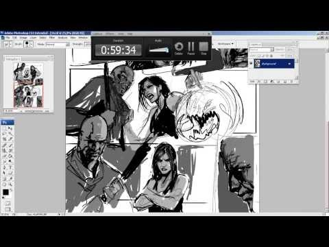 darkness falls page layout