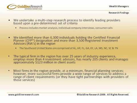 Goldline Research Wealth Managers Southeastern United States Industry Overview
