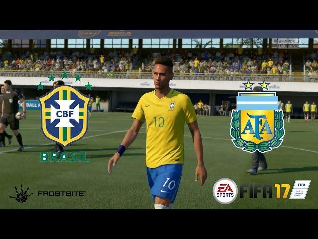 FIFA 17 - Brasil x Argentina - Super Cl?ssico das Am?ricas - Est?dio La Bombonera - Playstation 4