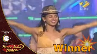 Shakti Mohan Winning Moment - FINALE - Dance India Dance Season 2 - Janta Ka Faisla