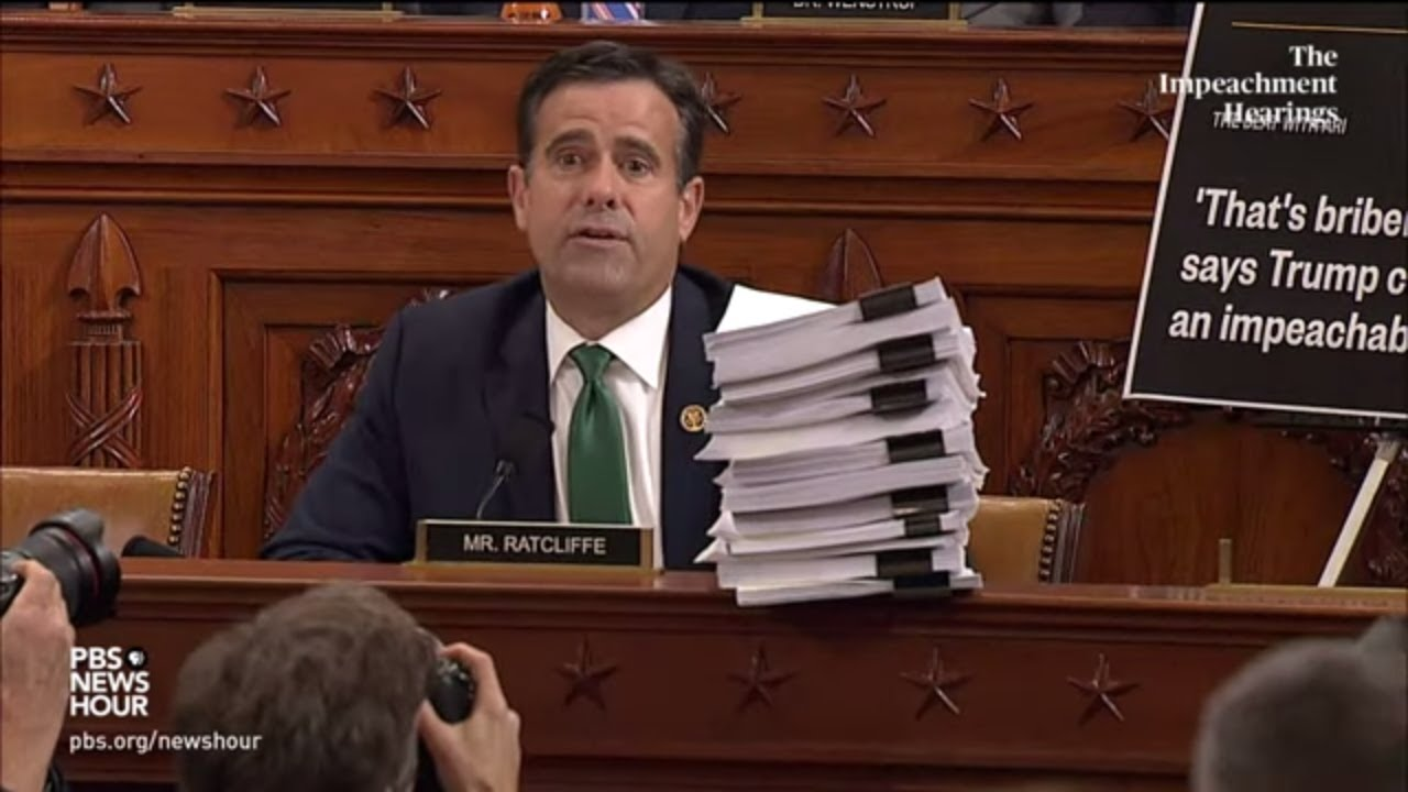 WATCH: Rep. Ratcliffe says no witness has accused Trump of 'bribery' | Trump impeachment hearings