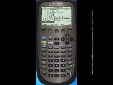 ti89 program with user input and output tutorial youtube rh youtube com TI- 84 Plus C Silver Edition TI- 82