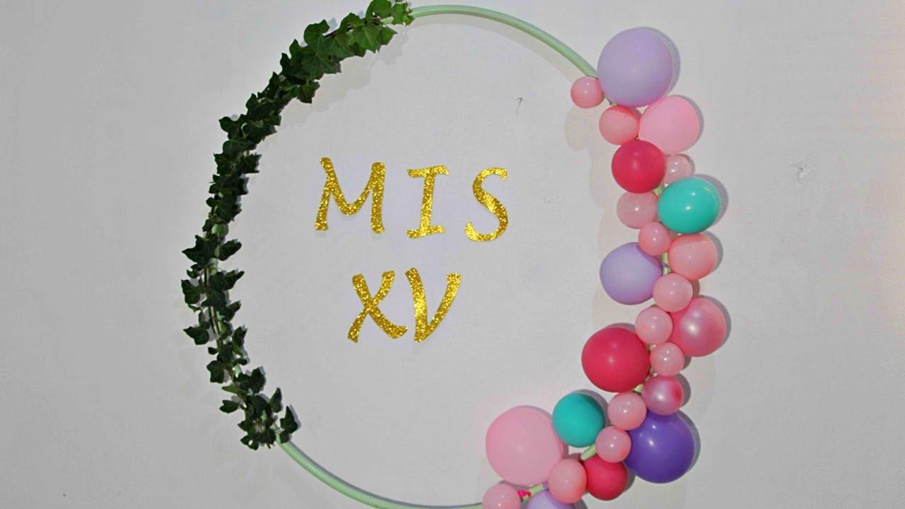 Aro de globos Vintage para Mesa de Dulces o Decoracion Fiesta - YouTube