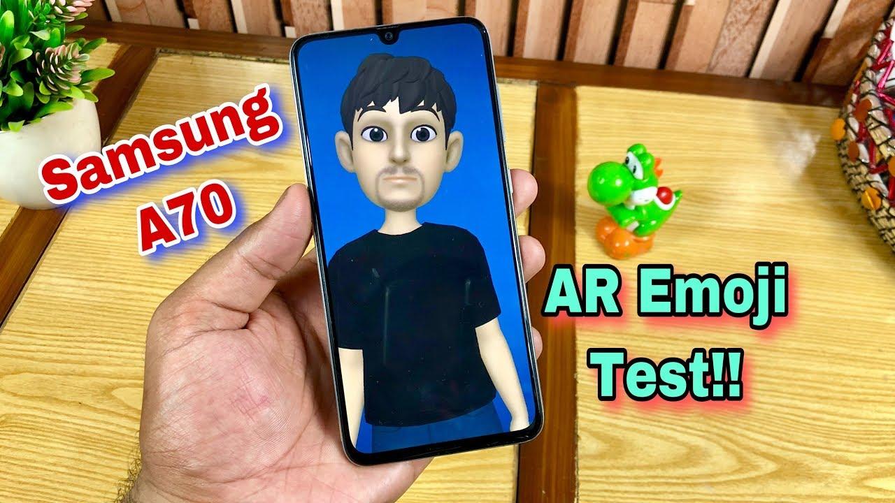 Samsung A70 AR Emoji Test - How to Create & Working!! Really Fast??