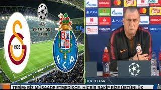 Porto Galatasaray öncesi Fatih Terim basın acıklaması 02,10,2018
