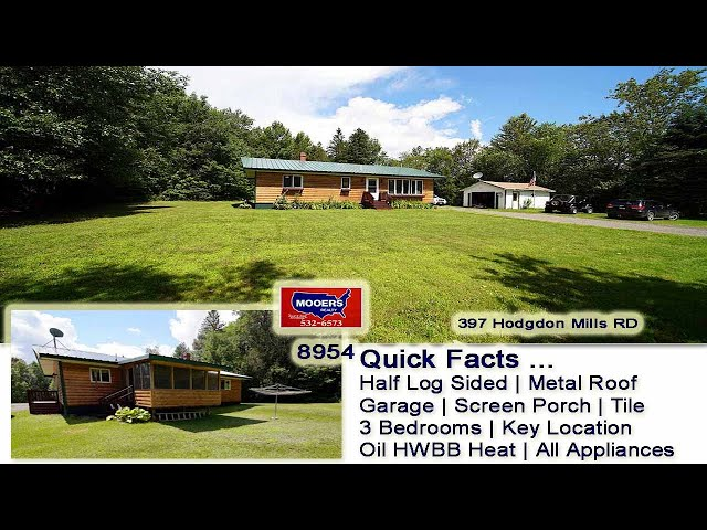 Homes In The Country In Maine | 397 Hodgdon Mills RD Hodgdon ME MOOERS REALTY #8954