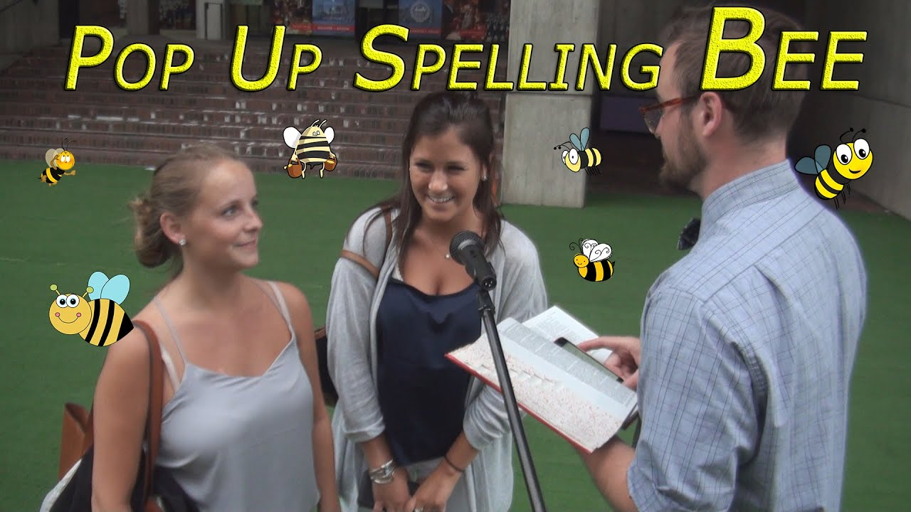 Surprise Pop Up Spelling Bee Prank -- Saving The Honey Bees Social Experiment!