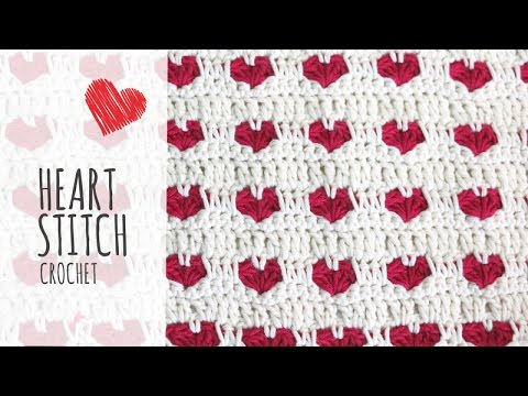 Tutorial Heart Stitch Crochet Valentines Day Youtube