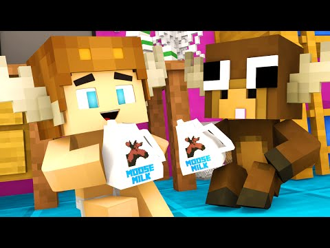 Minecraft Kindergarten - PET MOOSE ?! (Minecraft Roleplay) #4