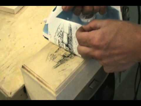 Iron transfer patterns for pyrography youtube for Printer transfer paper for wood