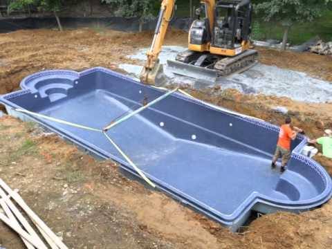 Viking fiberglass pool installation 13 levelling fix youtube Fiberglass swimming pool installation