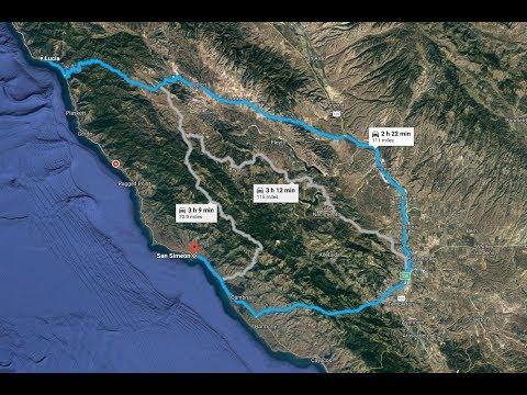 Big Sur SR1 Detour from Lucia to San Simeon/ Nacimiento Fergusson RD / Dash cam