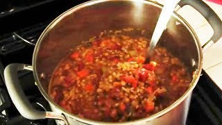 Vegan Recipe - Lentil Soup With Brown Rice