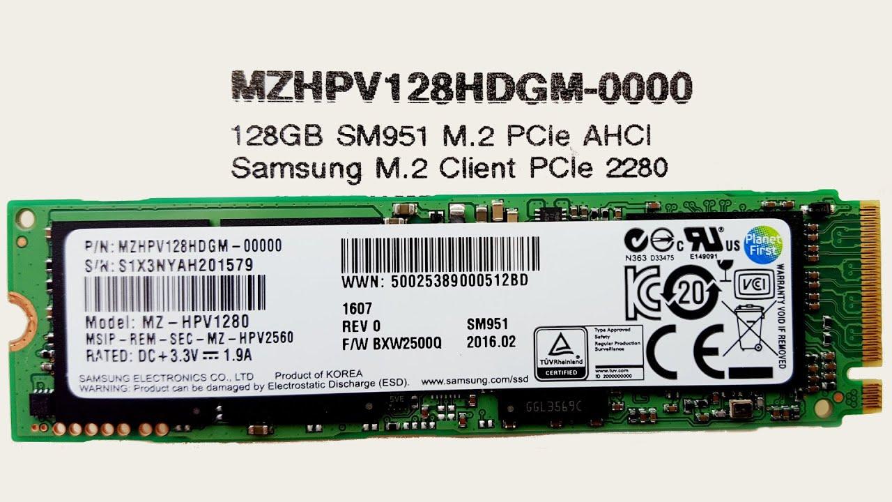 SSD Samsung SM951 Series M.2 PCIe 2280