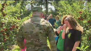 Michigan soldier returns to surprise entire family for daughter's birthday