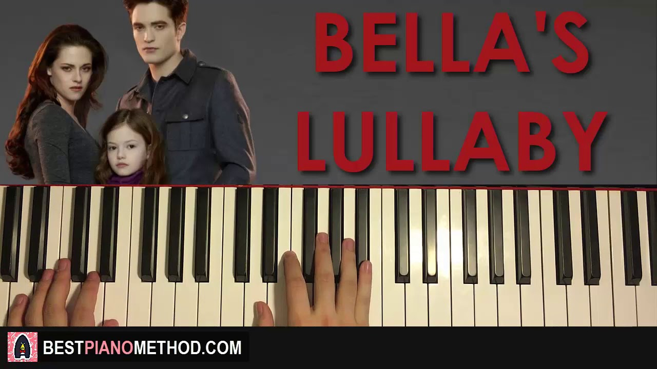 How To Play Twilight Bella S Lullaby Piano Tutorial Lesson Youtube