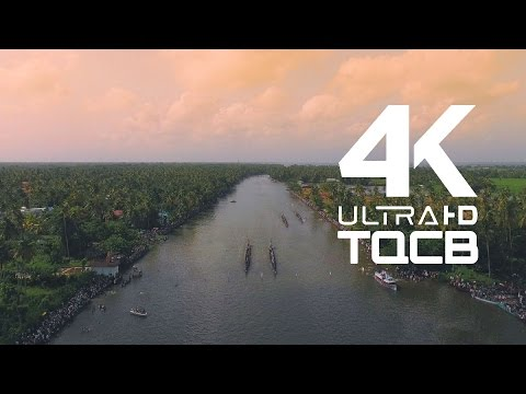 Kerala Boat Race - Nehru Trophy  | Aerial Video  in 4K (ft. Kuttanadan Punjayile - Kerala Boat Song)
