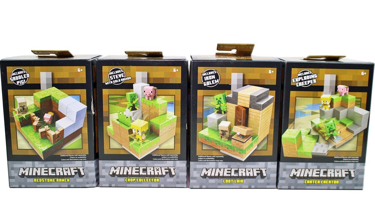 Minecraft Redstone Ranch Mini Figures Playset with Saddled Pig Figure New in Box