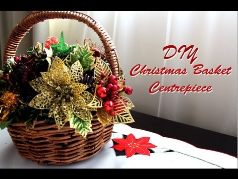 diy christmasholiday basket centrepiececreative christmas 2012 - Christmas Basket Decoration Ideas