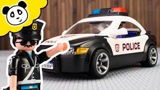 Playmobil Polizei - NEUES Polizeiauto voller SCHLEIM?! - Spielzeug auspacken & spielen   Pandido TV