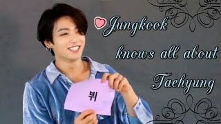 Jungkook knows all about Taehyung [Taekook]