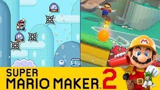 Primer Vistazo a Mario Maker 2: Probando Técnicas, Novedades y el Online - SMM2 (Switch) - ZetaSSJ