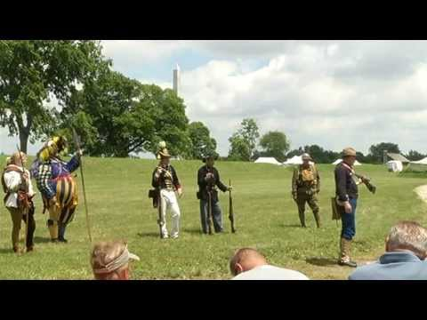 History re-enacted at Muster on the Maumee