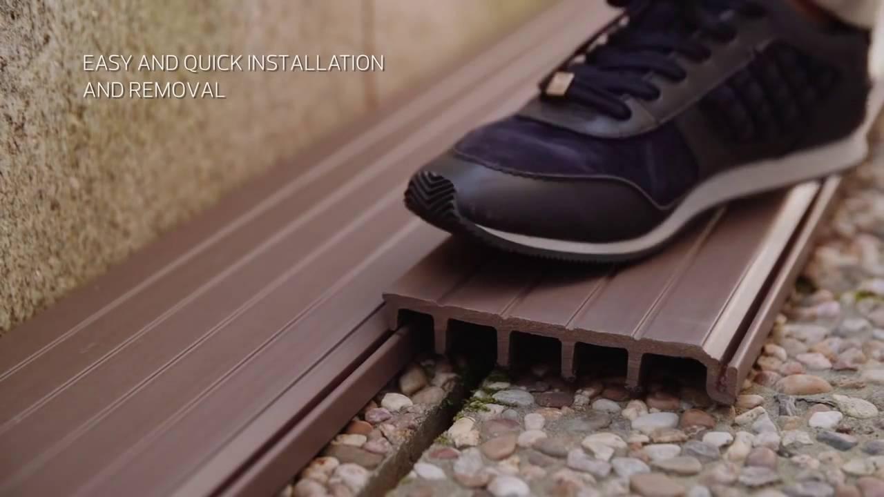 Lames de terrasse composite blitz decking - Comment poser des lames de terrasse composite ...