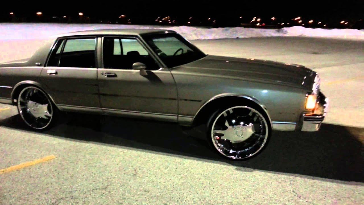 1984 Chevy Caprice Classic Tucking 24s Before Paint Job