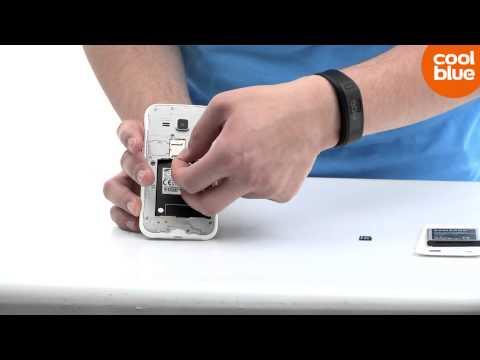Hoe plaats ik een SIM-kaart in de Samsung Galaxy J1 (NL/BE)