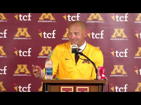 Gopher - Press Conference: P.J. Fleck on Gophers' 26-3 Win over Miami-Ohio   KFAN