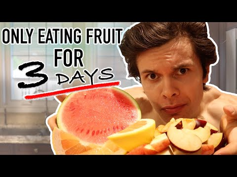 I Tried The Fruitarian Diet | My Experience Going RAW VEGAN For 3 Days...