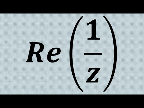 Re(1/z), Step By Step For Complex Analysis:)